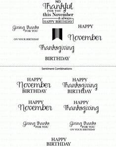 Birthday Classics: November Mini Stamp Set