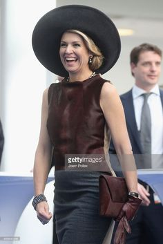 Queen Maxima of of the Netherlands is seen at the Draeger Medical GmbH during her state visit on March 19, 2015 in Luebeck, Germany.