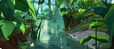 Every single tidbit about the unreleased reboot of the Crash Bandicoot series. Jungle Illustration, Landscape Illustration, Background Drawing, Animation Background, Environment Concept Art, Environment Design, Landscape Concept, Landscape Art, Perspective Art
