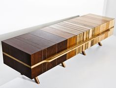 Eli Chissick just unveiled the Mosaica coffee table, his latest piece in his furniture collection made from beautifully fused together wood.
