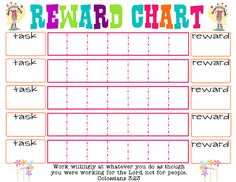Printable Reward Chart - The Girl Creative