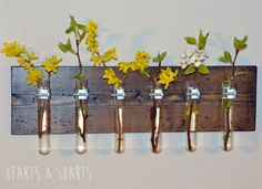 Hanging-Test-Tube-Wall-Planter by Hearts and Sharts ~ shared at DIY Sunday Showcase Link Party on VMG206 (Saturdays at 5pm CST). #diyshowcase