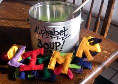 Felt Alphabet Soup
