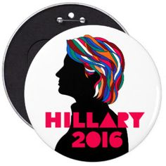 25% OFF Sale Jumbo Oversized HILLARY 2016 Button -- Vote Hillary Clinton for President 2016!