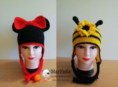 Free crochet patterns and video tutorials: How to crochet minnie mouse and bee…
