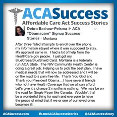 Debra in Montana got signed up with #ACA at a community health center! Fight the negativity. #Obamacare #YourStory #GetCovered #GetTalking Join us, Share, Tell your friends. The time is NOW. http://facebook.com/ACASuccessStories http://twitter.com/ACASuccessStory