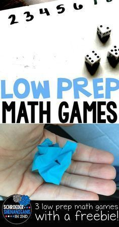 Are you looking for low prep math games for your little learners for centers or differentiated math practice? Here are a few math game ideas with a freebie!