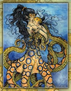 Dearly Beloved by MisticUnicorn on DeviantArt Real Mermaids, Mermaids And Mermen, Fantasy Creatures, Mythical Creatures, Sea Creatures, Pisces Constellation Tattoo, Mermaid Artwork, Pirate Art, Octopus Art