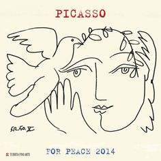 Lift me like an olive branch and be my homeward dove. ~ Leonard Cohen Drawing: The Face Of Peace X by Pablo Picasso Pablo Picasso, Kunst Picasso, Art Picasso, Picasso Drawing, Picasso Paintings, Art And Illustration, Illustrations, Picasso Dove Of Peace, Line Art