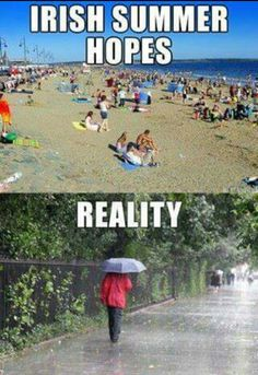 Thats why we're green . Ireland Weather, Dublin Ireland, Irish, Baseball Cards, Summer, Movie Posters, Movies, Places, Green