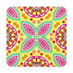 Colorful Abstract Pattern Coasters - Set of 6 Coaster