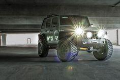 Custom 2015 Jeep Wrangler Rubicon Unlimited Anvil - Lights on