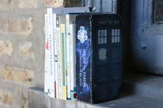 Repurposed brick bookend - Doctor Who Tardis