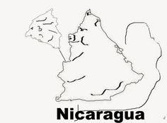 A funny map of Nicaragua