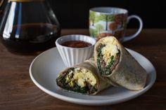 Mushroom Breakfast Burritos [OCTOBER FEATURED RECIPE]