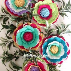 Colorful Flowers, Felt Flowers, Spring Felt Flowers, Wedding Decor, Babyshower Gift by juliettesdesigntr on Etsy https://www.etsy.com/listing/607632411/colorful-flowers-felt-flowers-spring