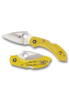 Spyderco Dragonfly2 Yellow FRN H-1 Spyder Edge Folding Knife ! Buy Now at gorillasurplus.com