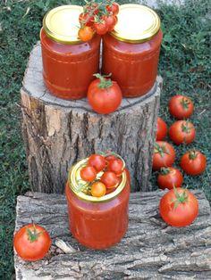 Sos de rosii pentru paste si pizza I Foods, Ketchup, Ricotta, Canning, Panna Cotta, Vegetables, Pizza, Kitchens, Romanian Food