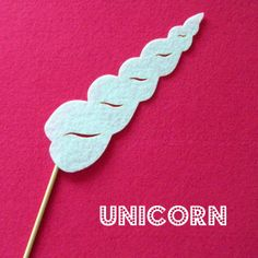 Hilarious!! My kids would love this prop!! Photo booth prop KIT Unicorn Horn by KittyDuneCuts on Etsy, $2.00