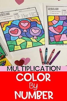 Multiplication Color By Number - Have your students practice their multiplication facts with this fun Valentine's Day themed math worksheet.