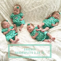 We love the Gardner Quadruplets!! How cute are they wrapped up in the Divinity Cream?! #MinkyCouture #bestblanketever #gardnerquadsquad