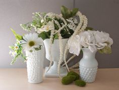 Instant Collection of Milk Glass Vases Weddings by TheWildWorld, $40.00