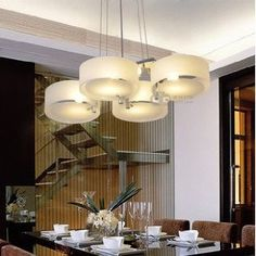 Contracted Italian dining room Acryl chandelier bedroom lamp pendant lights Chandeliers