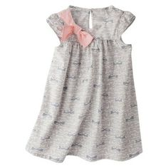 Cherokee® Infant Toddler Girls' A Line Dress - print is little glasses (even cuter in person)