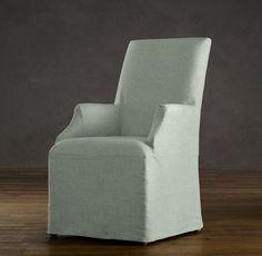 "Hudson Parsons Slipcovered Armchair 26""W x 29""D x 41""H"