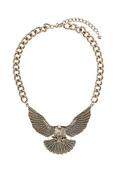 Aria's Chunky Eagle Necklace from Topshop