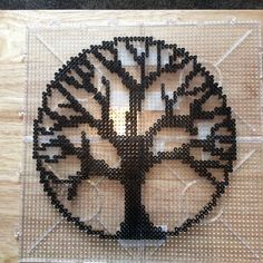 Tree of life Hama perler beads add a tiny tiny bit of color at the ends of each . - Tree of life Hama perler beads add a tiny tiny bit of color at the ends of each …, - Melty Bead Patterns, Pearler Bead Patterns, Bead Loom Patterns, Perler Patterns, Beading Patterns, Knitting Patterns, Bracelet Patterns, Peyote Patterns, Melty Beads Ideas