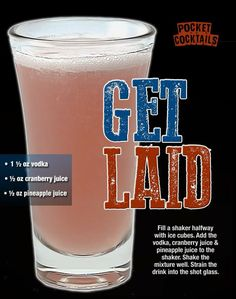 Millions of People Enjoy Pocket Cocktails. Check out our World Famous Drink Posters. Liquor Drinks, Vodka Drinks, Cocktail Drinks, Alcoholic Drinks, Cocktail Recipes, Mixed Drinks Alcohol, Alcohol Drink Recipes, Refreshing Drinks, Summer Drinks