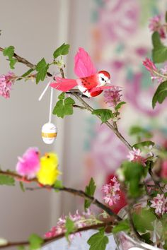 Easter Tree with birdies :)  www.witenbont.blogspot.com