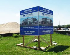 Outdoor building signage completed by Speedpro Signs Barrie Ontario! Informative!