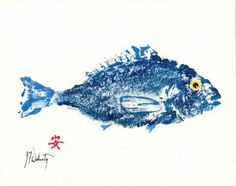 Blue Sea Perch Gyotaku