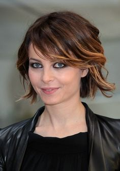 light bob with ombre- like the bangs