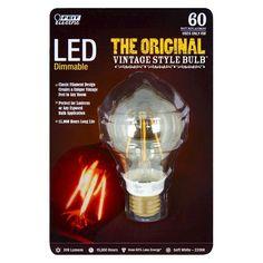 Feit 60-Watt Vintage AT19 Led Light Bulb - Soft White