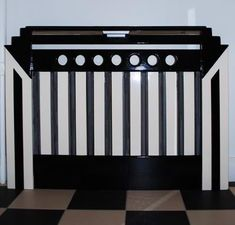 photograph of an Art Deco radiator cover/cabinet