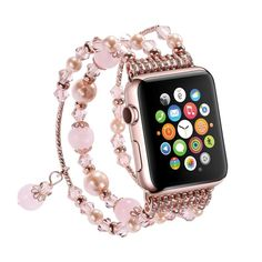 Women Handmade Natural Stone Bracelet Replacement for Apple Watch
