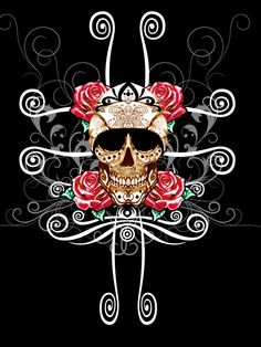 skull with roses by Will1812