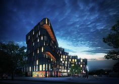 High Park / Rojkind Arquitectos,Exterior Night View / © Glessner Group