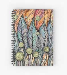Spiral Notebooks Front cover print from an independent designer 120 pages Thick 90gsm paper stock Available in a selection of ruled or graph pages Handy document pocket  #painting, #gift, #present,  #redbubble  #handdrawing #meditationart #art  #graphics, #abstraction, #black, #brushpen, #doodle, #doodling, #drawart, #ink, #inktens, #lineart, #mandala, #meditation, #mixedmediaart, #mixsedmedia, #paper, #patterns, #pen, #sketch,  #watercolor, #white, #zentangle