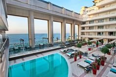 Hyatt Regency Nice located on the Promenade des Anglais, is one of the best hotels in the French Riviera and the south of France, while it has a spa and a pool. Saint Tropez, Vacation Packages, Vacation Trips, Phuket, Hotels And Resorts, Best Hotels, Hotels In France, Destinations, Nice France