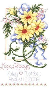 wedding cross stitch patterns free to print | wedding samplers ...