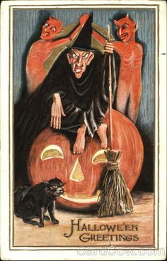 Witch Devils Halloween Greetings