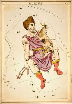 From Urania's Mirror: Auriga, 1825 |