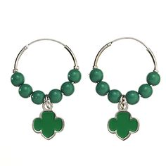 HOOP AND BEAD TREFOIL EARRINGS- $20.00.