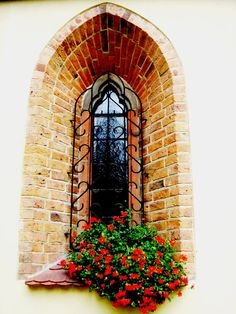 Part of Church by ~renny-saoirse on deviantART Old Windows, Windows And Doors, Entrance Doors, Doorway, Portal, Window Detail, Garden Windows, Unique Buildings, Window Dressings