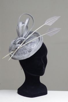 Silver grey Couture completely handmade and handblocked