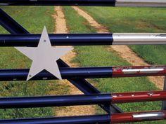 metal texas flag